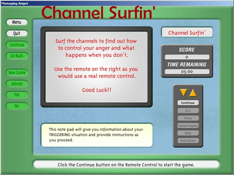 Channel Surfin' - Simulations to practice how to think and act when faced with various conflicts.