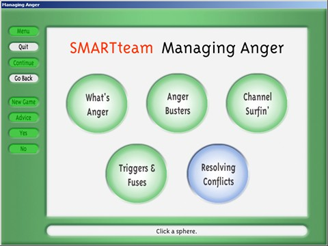 Managing Anger - Activities Menu