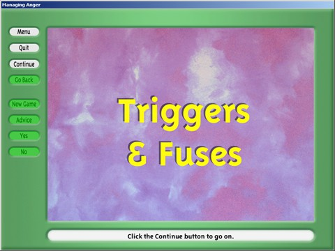 Triggers And Fuses Activity - An interactive profile to learn what triggers your anger.