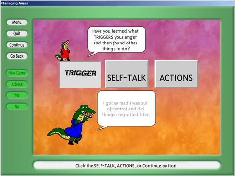 What's Anger - Example Screen 1